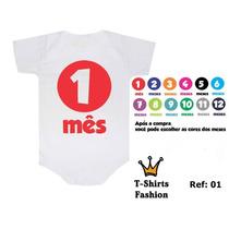 Kit 12 Bodies Body Personalizado Bori Bebê Mês A Mês Rock