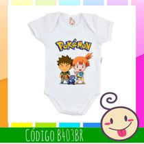 Body Bebê Criança Legal Estampado Barata Misty Brock Pokémon