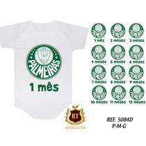 Kit 12 Bodies Body Personalizado Bori Bebê Mês A Mês Times