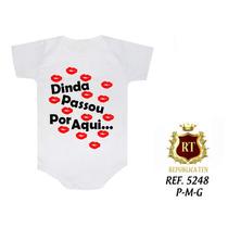 Body Infantil Dinda Tia Papai Mamãe Bebê Personalizado