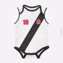 Body Infantil Vasco Malha Oficial Time Bebe Frete Grátis