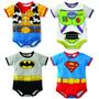 Kit Bodys Bebê Fantasia Carnaval Woody-buzz-batman-superman