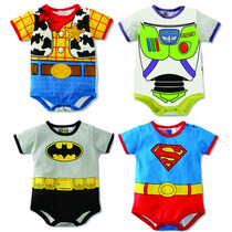Kit Bodys Bebê Fantasia Carnaval Woody-buzz-batman-superman