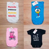 Body Infantil Bebê Galinha Pintadinha, Peppa Pig Divertidos