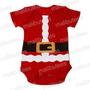 Body Camiseta Papai Noel 100% Algodão Natal Bebê Promoção