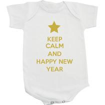 Body / Camiseta Keep Calm And Happy New Year - Fim De Ano