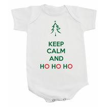 Body / Camiseta Keep Calm And Ho Ho Ho - Natal - Papai Noel