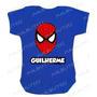 Homem Aranha Spiderman Body Infantil Azul Baby Super Herois