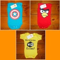 Body Infantil Bebê Capitão América, Angry Birds Divertidos