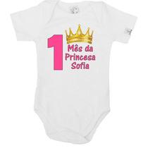 Mv040 - Kit Mêsversário Princesa - Nome Personalizado