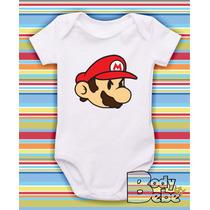 Body Bebê - Super Mario 02 Personagem Estiloso Bros Pizza