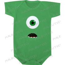 Body Infantil Bebê Aniversario Monstros S.a. Mike Wazowsky