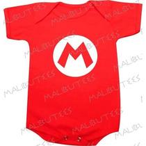 Body Mario Jogos Nintendo Infantil Bebê Bori Baby Personagem