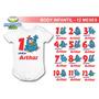 Body Infantil Kit 12 Meses Galinha Pintadinha