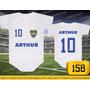 Body Ou Camisetas Times Boca Juniors Argentina Personalizado