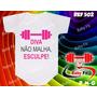 Macacão Academia Body Bebe Diva Não Malha Esculpe Camiseta