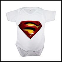 Body Infantil Personalizado Super Man Liga Da Justiça Batman