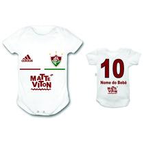 Body Fluminense Time Futebol Bebê Personalizado Infantil