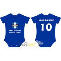 Roupa De Time Para Bebê Com Nome Personalizada - Grêmio