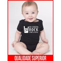 Body Bebe Frases Engraçadas Curto Rock Papai Roupas Bodies