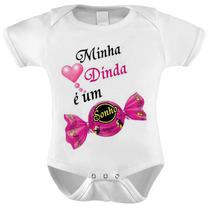 Body Baby Infantil Minha Dinda É Um Sonho