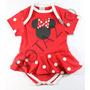 Body Fantasia Minnie Mouse Para Festa De Mêsversário Bebê