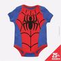 Body Infantil Fantasia Bebê Homem Aranha 100% Algodão