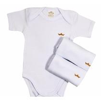 Body Branco Bebê Basico Kit 3un Liso Preco Atacado Best Club