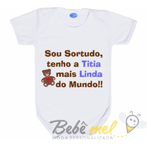 Body Da Titia -body Frase Madrinha