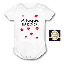 Body Bebê Madrinha Frase Unisex Dinda Ataque Beijos Roupa