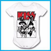 Body Infantil Kiss, Rock, Banda, Bebe, Criança, Música, Inte