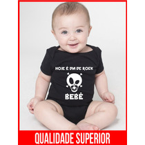 Body Bebe Rock Bodies Frases Engraçadas Preto Roupas Baratas