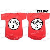 Body Gemeos Thing 1 Thing 2 - Macacão Bebe Kit Com 2 Bodies