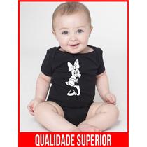 Body Bebe Minnie Mickey Mouse Saída Maternidade Menina Roupa