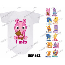Body Backyardigans Baby Mesversario Personalizado Kit Com 12