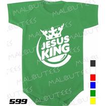 Body Evangélico Gospel Jesus King Infantil Bebê