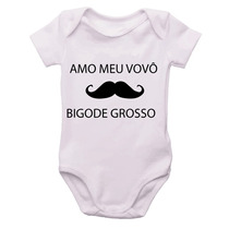 Body De Bebê Amo Meu Vovò Bigode Grosso