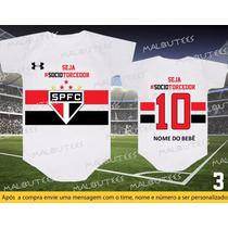 Body São Paulo Time Futebol Bebê Sócio Torcedor Tricolor
