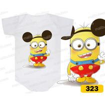 Body Minions Mickey Personalizados Infantil Bori Bebê