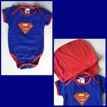 Body Infantil (bebê) Superman Com Capa (tam G,gg,1)
