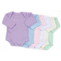 25 Bodys Baby Basic Mc Ml Reg Várias Cores Conforto Bb Top