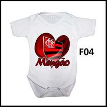 Body Infantil Personalizado Time Futebol Flamengo C/ Nome