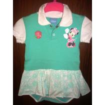 Vestido Body Menina Polo Tam G Disney Baby Novo