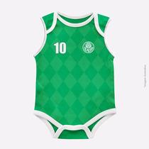 Body Infantil Palmeiras Malha Oficial Time Bebe