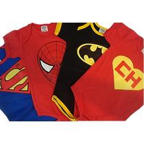 Body Infantil - Super Heróis 6 Peças