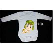 Body Infantil Baby Manga Longa Turma Do Chaves- Diversas