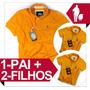 Camisa Polo 1 Pai E 2 Filhos, Sheepfyeld Iguais Originais