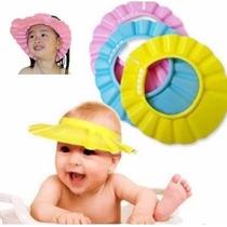 Chapéu De Banho Protetor Lava Cabeça Bebês Anti Shampoo Olho