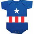 Body Capitão América Festa De Mêsversário Do Bebê, Fantasia