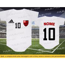Body Camiseta Time Flamengo Futebol Bebê Personalizado